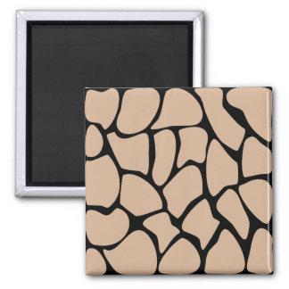 Giraffe Print Pattern in Beige Fridge Magnet