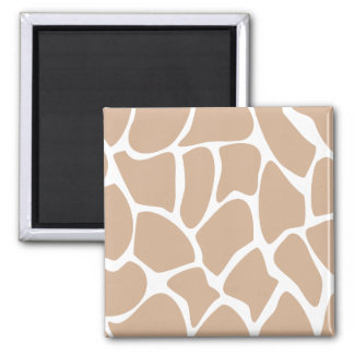 Giraffe Print Pattern in Beige. Fridge Magnets