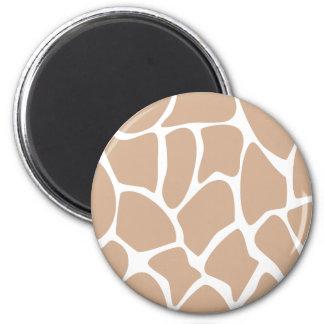 Giraffe Print Pattern in Beige Fridge Magnets