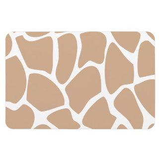 Giraffe Print Pattern in Beige. Flexible Magnet
