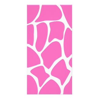 Giraffe Print Pattern in Bright Pink. Photo Greeting Card