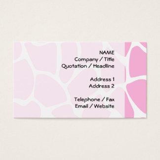 Giraffe Print Pattern in Candy Pink. Business Card