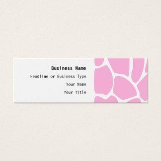 Giraffe Print Pattern in Candy Pink. Mini Business Card