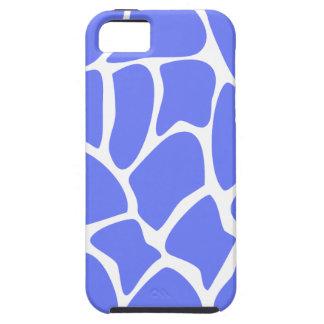 Giraffe Print Pattern in Cornflower Blue. iPhone 5 Case