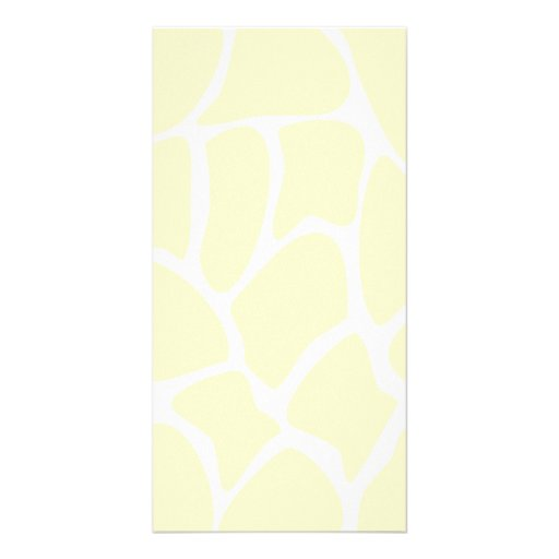 Giraffe Print Pattern in Cream Color. Photo Card Template