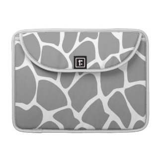 Giraffe Print Pattern in Gray. Sleeves For MacBook Pro