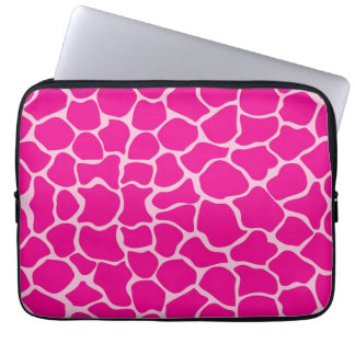 Giraffe Print Pattern in Shades of Pink Laptop Sleeve