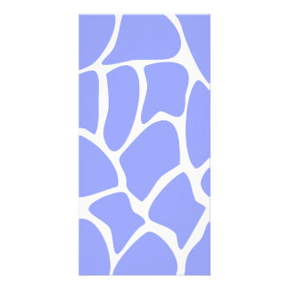Giraffe Print Pattern in Sky Blue. Photo Card