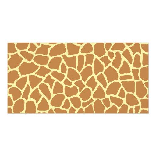 Giraffe Print Pattern. Photo Cards