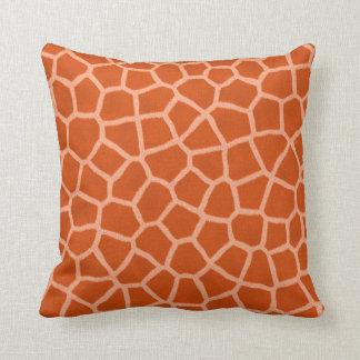 Giraffe print pillow