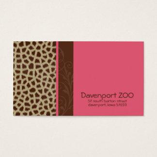Giraffe Print [pink] Business Cards