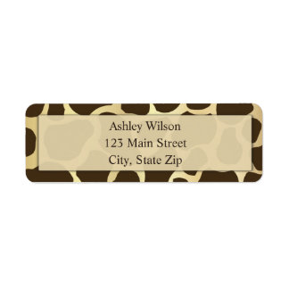 Giraffe Print Return Address Labels