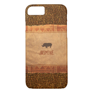 Giraffe Print Rhino African Theme iPhone 8/7 Case
