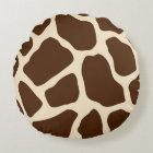 Giraffe Print Round Pillow