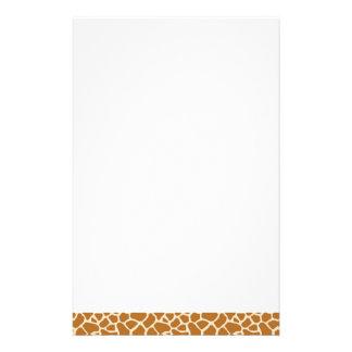 Giraffe Print Stationery