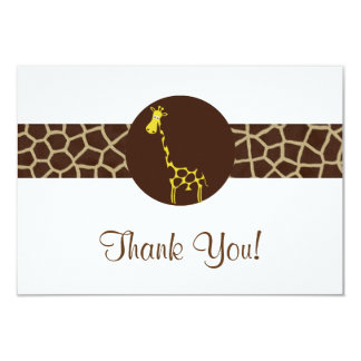 Giraffe Print Thank You Card