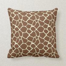 Giraffe Print Throw Pillows