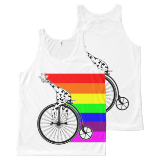 Giraffe Rainbow Bike All-Over-Print Tank Top