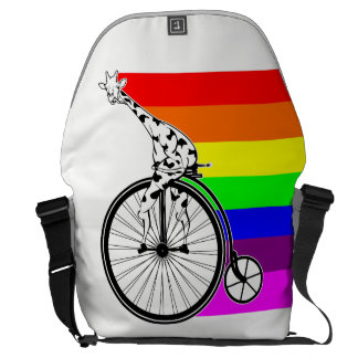 Giraffe Rainbow Bike Courier Bag