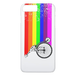 Giraffe Rainbow Bike iPhone 8 Plus/7 Plus Case