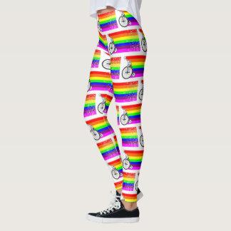 Giraffe Rainbow Bike Leggings