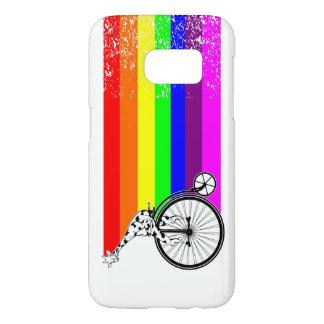 Giraffe Rainbow Bike Samsung Galaxy S7 Case