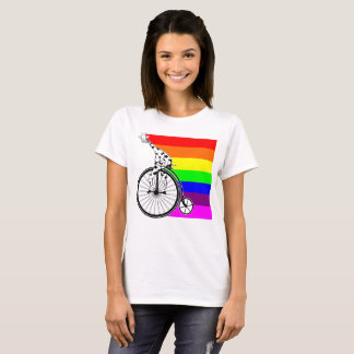 Giraffe Rainbow Bike T-Shirt