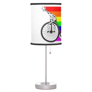 Giraffe Rainbow Bike Table Lamp