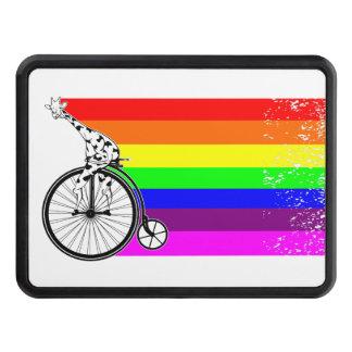 Giraffe Rainbow Bike Trailer Hitch Cover