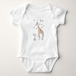 giraffe reach for the star baby bodysuit
