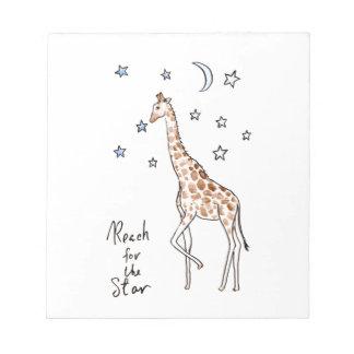 giraffe reach for the star notepads