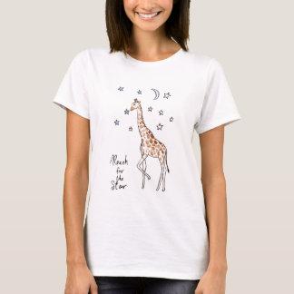giraffe reach for the star T-Shirt