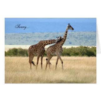 Giraffe regrets Card