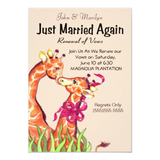 Giraffe  Renewal of Vows Party  Invitations