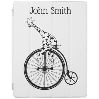 Giraffe riding a bike iPad cover