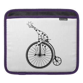 Giraffe riding a bike iPad sleeve