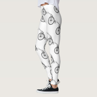 Giraffe riding a bike leggings