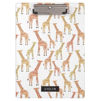 Giraffe Safari Print Clipboard