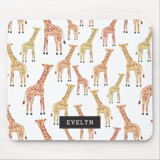 Giraffe Safari Print Mouse Pad