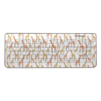 Giraffe Safari Print Wireless Keyboard