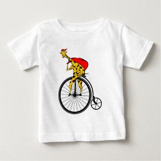 Giraffe Santa Claus Christmas Baby T-Shirt