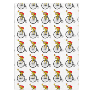 Giraffe Santa Claus Christmas Tablecloth