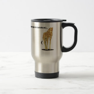 Giraffe Selfies Travel Mug