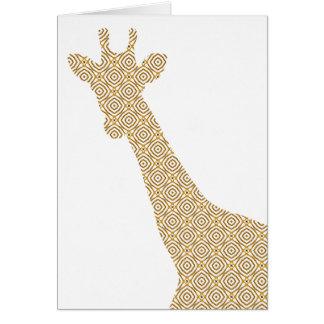 Giraffe shadow card