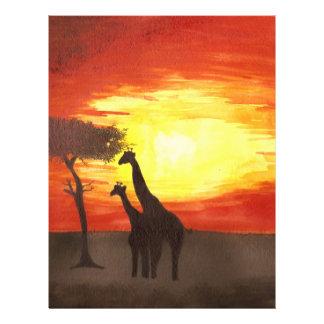 Giraffe Silhouette Full Color Flyer