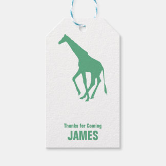 Giraffe Silhouette Safari Birthday Gift Tag Pack Of Gift Tags