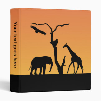 Giraffe silhouette sunset photo album, binder