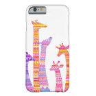 Giraffe Silhouettes in Colourful Tribal Barely There iPhone 6 Case