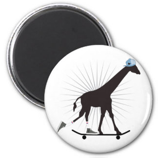 Giraffe skills 2 inch round magnet