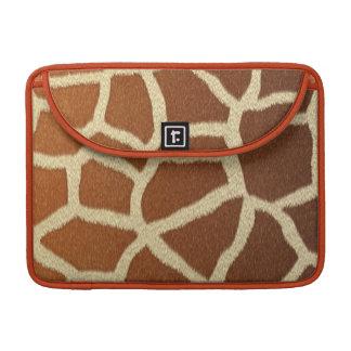 giraffe skin animal fur fun MacBook pro sleeves